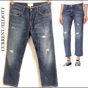 Current/Elliott The Boyfriend Loved Destroy Jeans